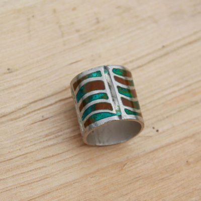 colour squiggle ring