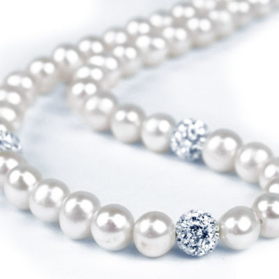 Freshwater Pearl Necklace and silver beads